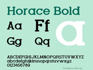 Horace Bold Version 1.000图片样张
