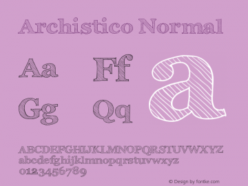 Archistico Normal Version 1.0 Font Sample