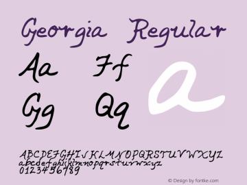 Georgia Regular Altsys Metamorphosis:3/2/95 Font Sample