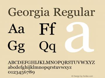 Georgia Regular Version 5.00x图片样张