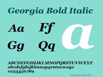 Georgia Bold Italic Version 5.00x图片样张