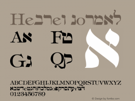 Hebrew normal Version 001.003 Font Sample
