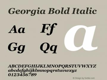 Georgia Bold Italic Version 6.01图片样张