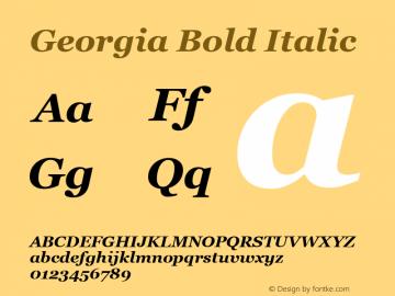 Georgia Bold Italic Version 5.51图片样张