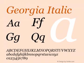 Georgia Italic Version 5.51图片样张
