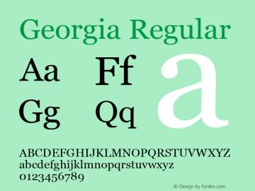Georgia Regular Version 5.51图片样张