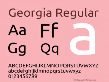 Georgia Regular Version 5.00x-3图片样张