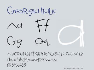 Georgia Italic Version 5.00x-1图片样张