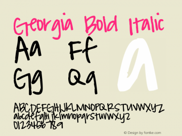 Georgia Bold Italic Version 5.00x-1图片样张
