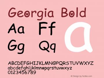 Georgia Bold Version 5.00x-1图片样张