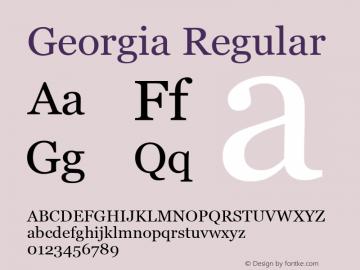 Georgia Regular Version 5.00图片样张