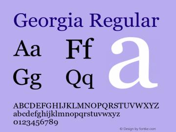 Georgia Regular Version 5.55图片样张