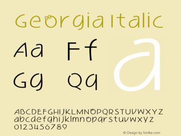 Georgia Italic Version 5.00x-4图片样张