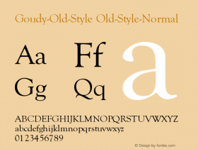 Goudy-Old-Style Old-Style-Normal Version 001.000 Font Sample