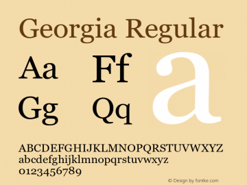 Georgia Regular Version 5.57图片样张