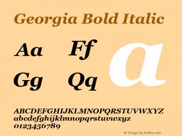 Georgia Bold Italic Version 5.57图片样张