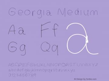 Georgia Medium Version 001.000 Font Sample