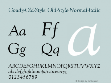 Goudy-Old-Style Old-Style-Normal-Italic Version 001.000 Font Sample
