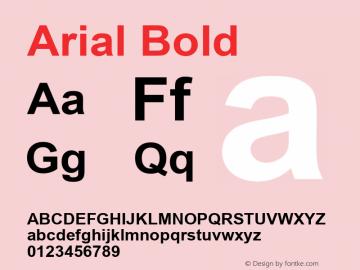 Arial Bold Version 2.82 Font Sample