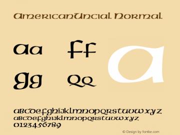 AmericanUncial Normal Version 001.000 Font Sample