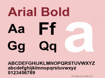 Arial Bold Version 2.50 Font Sample