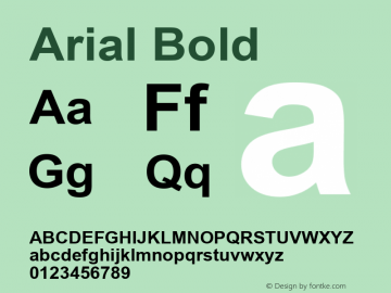 Arial Bold Version 3.12 Font Sample