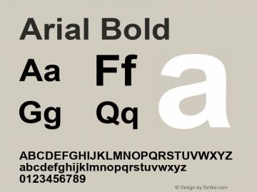 Arial Bold Version 5.01 Font Sample