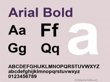 Arial Bold Version 3.06 Font Sample