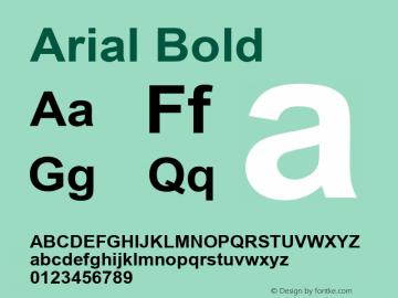 Arial Bold Version 3.00 Font Sample