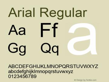 Arial Regular MS core font:V1.00图片样张