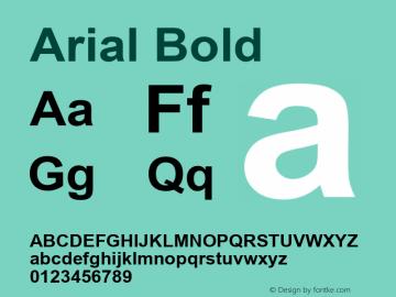 Arial Bold Version 2.60 Font Sample