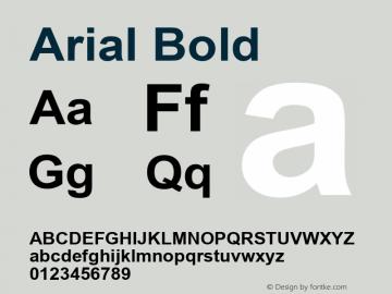 Arial Bold Version 5.06 Font Sample