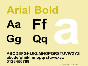 Arial Bold Version 5.12 Font Sample