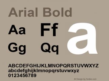 Arial Bold Version 5.70 Font Sample