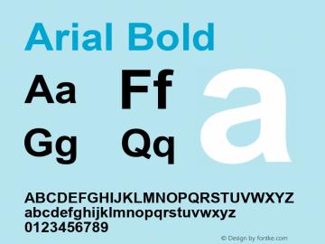 Arial Bold Version 6.80 Font Sample