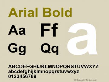 Arial Bold Version 6.81 Font Sample