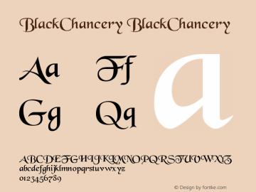 BlackChancery BlackChancery Version 001.001 Font Sample