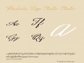 Bretista Exp Italic Italic Version 1.000图片样张