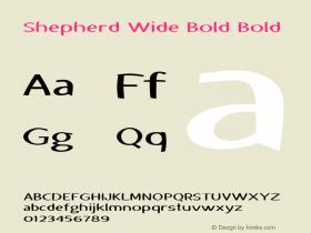 Shepherd Wide Bold Bold Version 1.000图片样张