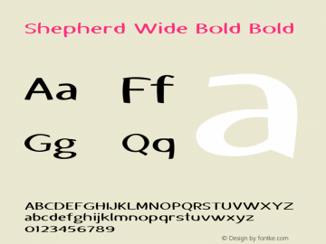 Shepherd Wide Bold Bold Version 1.000图片样张