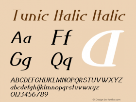 Tunic Italic Italic Version 1.000图片样张