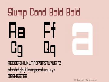 Slump Cond Bold Bold Version 1.000图片样张