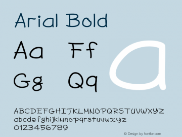 Arial Bold Version 5.01.2x Font Sample