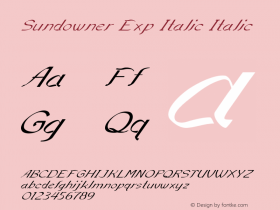 Sundowner Exp Italic Italic Version 1.000图片样张