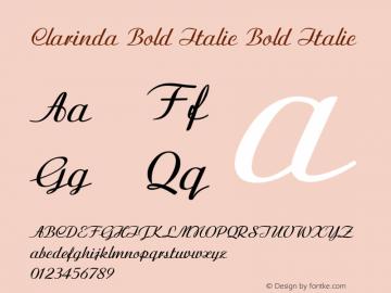 Clarinda Bold Italic Bold Italic Version 1.000图片样张