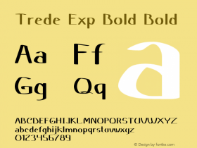 Trede Exp Bold Bold Version 1.000图片样张