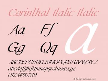 Corinthal Italic Italic Version 1.000图片样张