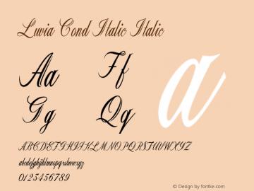 Luvia Cond Italic Italic Version 1.000图片样张