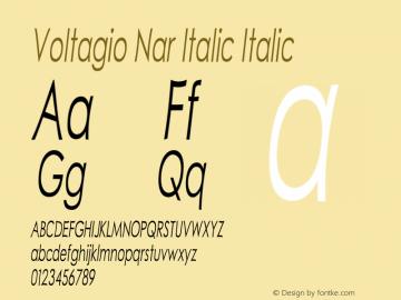 Voltagio Nar Italic Italic Version 1.000图片样张