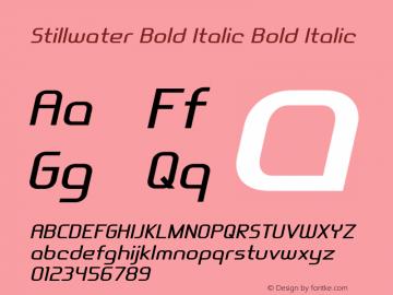 Stillwater Bold Italic Bold Italic Version 1.000图片样张